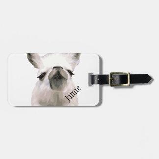 Personalised Snooty Snobby Llama Luggage Tag