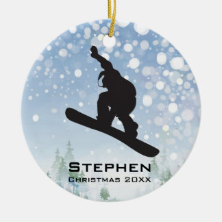 Personalised Snowboarding Ornament