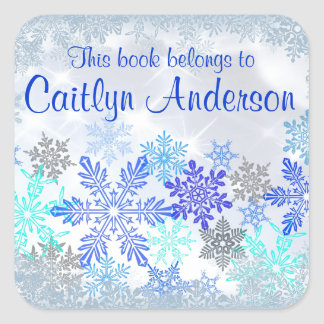 Personalised Snowflakes Bookplate Sticker