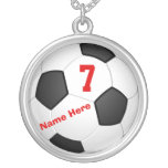 Personalised Soccer Necklaces with Number and Name