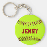 Personalised Softball Keychain