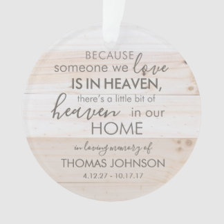 Personalised Someone In Heaven Acrylic Ornament