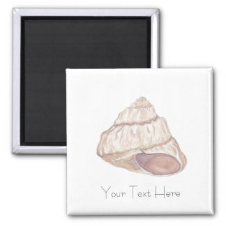 Personalised Spiral Beach Shell Square Magnet