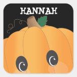 Personalised Spooky Pumpkin Halloween Sticker