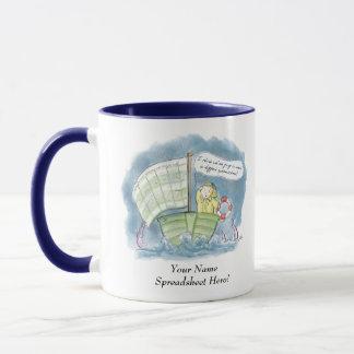 Personalised Spreadsheet Hero! Mug
