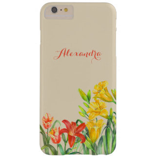 Personalised Spring Flowers Floral Art Barely There iPhone 6 Plus Case