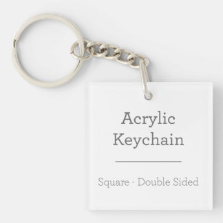 Personalised Square Keychain