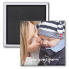 Personalised Square Magnets Unique Gifts For Mum
