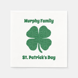 Personalised St. Patrick's Day Disposable Napkins