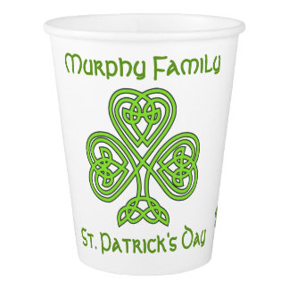 Personalised St. Patrick's Day Paper Cup