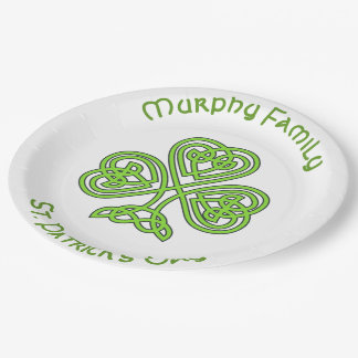 Personalised St. Patrick's Day Paper Plate