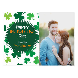 Personalised St. Patricks Day Photo Postcard