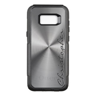 Personalised Stainless Steel Metallic Radial Look OtterBox Commuter Samsung Galaxy S8+ Case