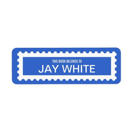 Personalised Stamp Edge Bookplate Label Return Address Label