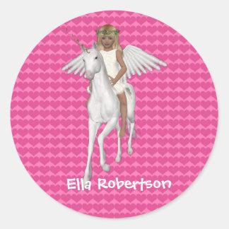 Personalised Sticker Unicorn Design