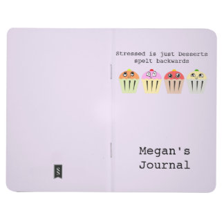 Personalised stressed is just desserts backwards journal