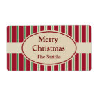 Personalised Striped Christmas Labels