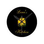 Personalised Sunflower Clock-Lena's Kitchen