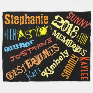 Personalised Sunshine Blanket 8 to 10 Names