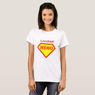 Personalised Super Hero Ladies T-Shirt