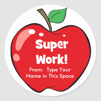 Personalised Super Work Stickers