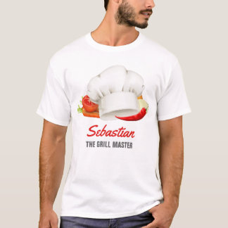 Personalised t-shirt Chef Kitchen Grill Master