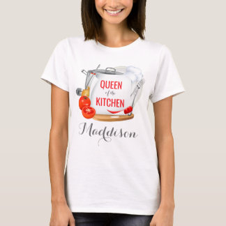Personalised t-shirt Queen of the Kitchen Gourmet