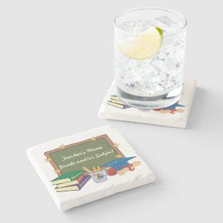 Personalised Teacher Stone Beverage Coaster