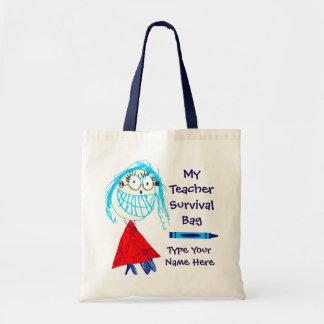 Personalised Teacher Survival Tote Bag