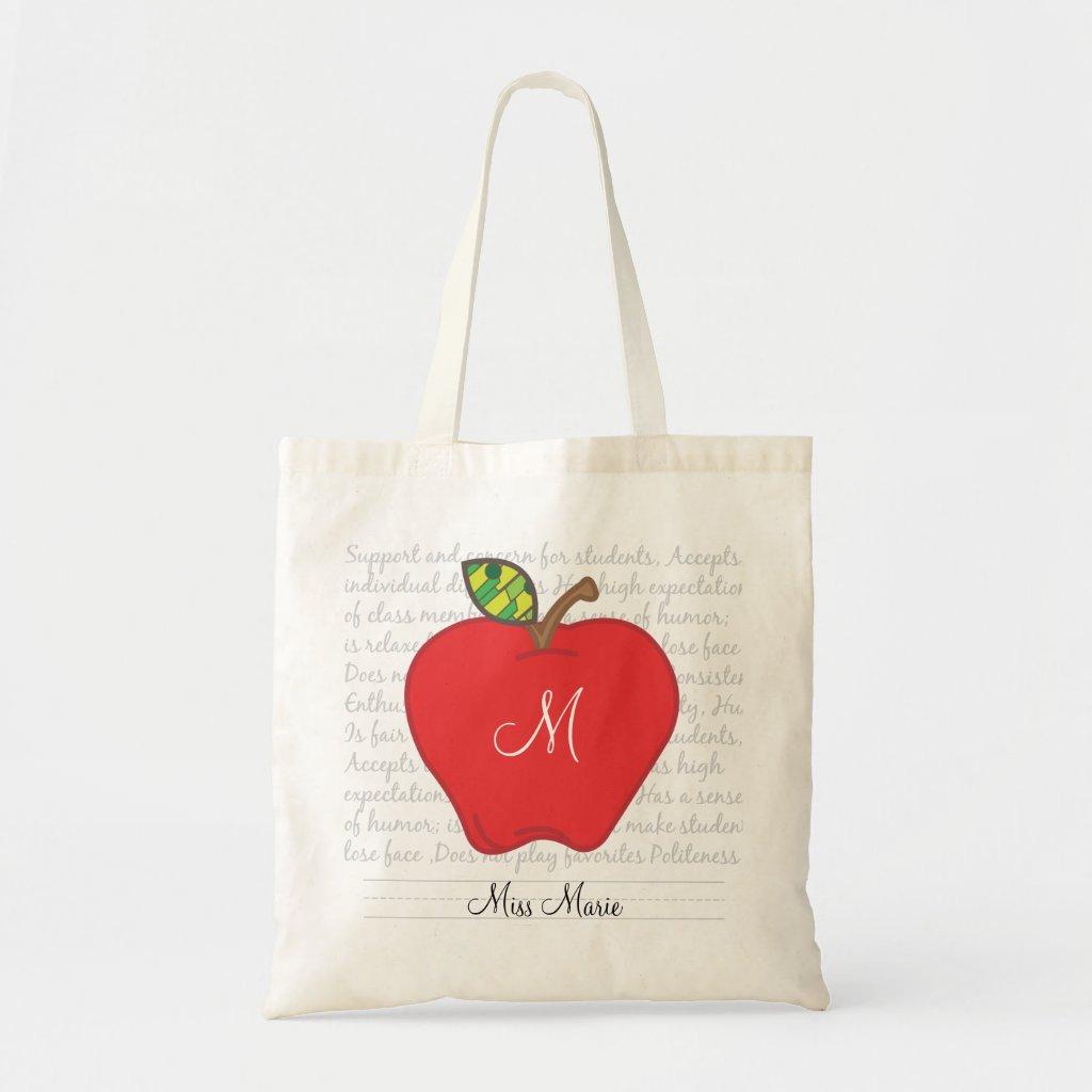 Tote Bags Personalised Personalised Teacher Tote Bag