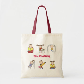 Personalised Teacher Tote Bag - Stick Kids