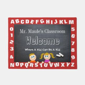 Personalised Teacher's Classroom Alphabet Welcome Doormat