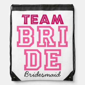 Personalised team bride bag drawstring bag