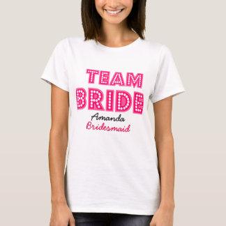 personalised TEAM BRIDE,BRIDES CREW T-Shirt