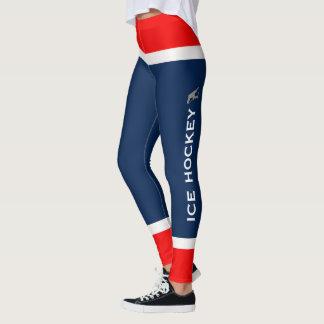 Personalised Team Colours Ice Hockey Socks Leggings