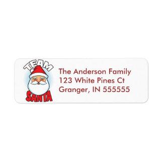 Personalised Team Santa Address Labels