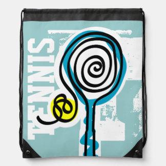 Personalised tennis bag | cute drawstring backpack