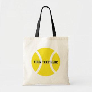 Personalised tennis ball tote bags