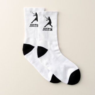 Personalised tennis socks gift for player or coach 1