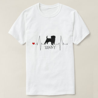 Personalised Terrier Love My Dog Heart Beat T-Shirt