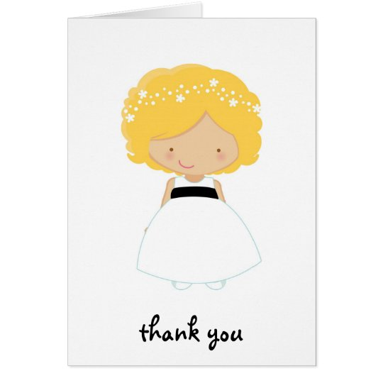 Personalised Thank You For Being Our Flower Girl Card