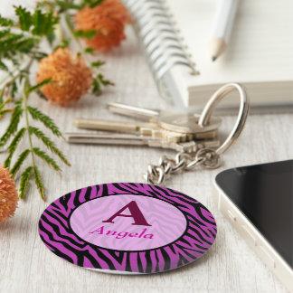 personalised tiger tijgerprint name key ring