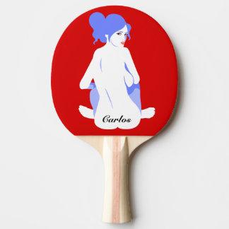 "Personalised ""Tramp Stamp"" Ping Pong Paddle"