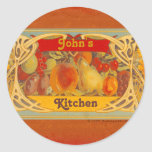 Personalised Tuscan Kitchen Stickers