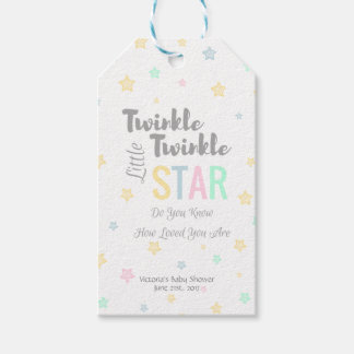 Personalised Twinkle Twinkle Little Star - Tags