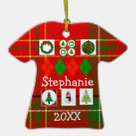 Personalised Ugly Christmas Sweater Shirt Ornament