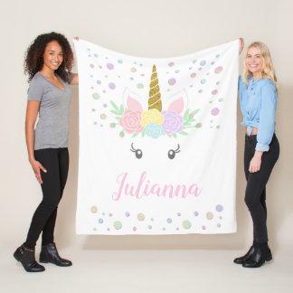 Personalised Unicorn Face Blanket