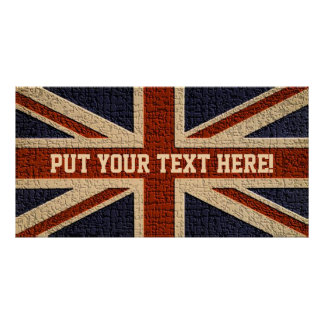 Personalised Union Jack Poster