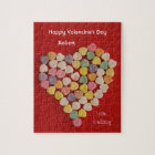 Personalised Valentine Jigsaw Puzzle Gift in Tin