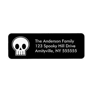 Personalised Vector Skull Return Address Labels